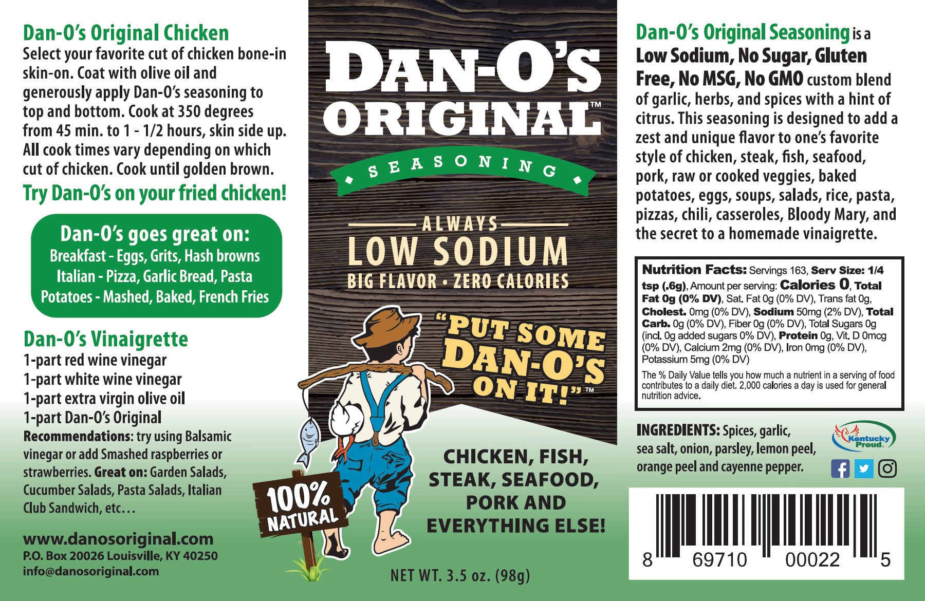 Dan-O's Original Seasoning (20 o.z.) - Dan-O's Orginal Seasoning