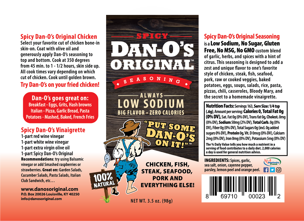 Dan-O's Starter Kit Save $2