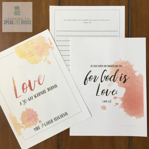 Love: 30-Day Scripture Journal