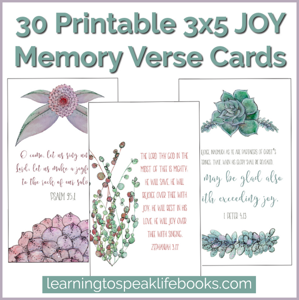 JOY Printable 3x5 Scripture Cards (30 Verses)