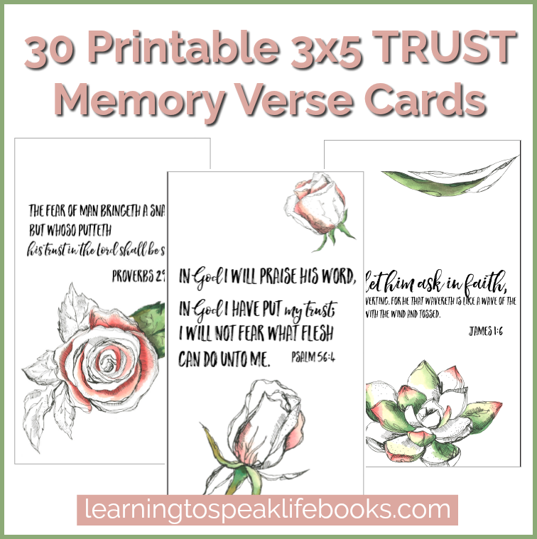TRUST Printable 3x5 Scripture Cards (30 Verses)