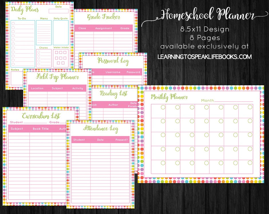 graphic about Homeschool Printable Planner known as Printable Homeschool Planner (PDF)