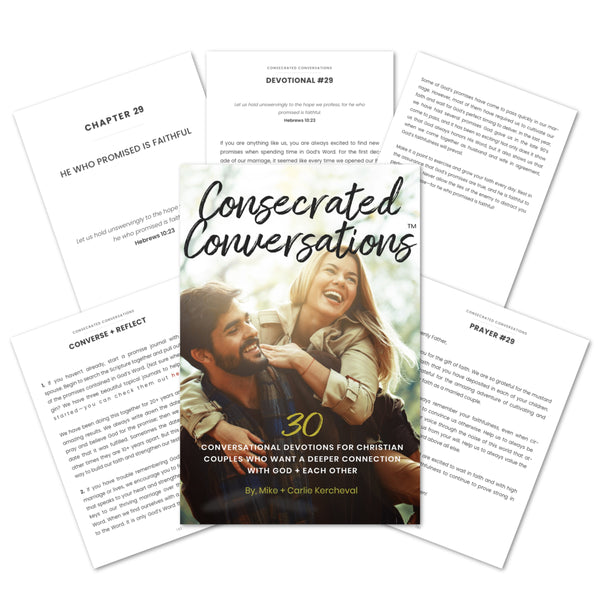 Consecrated Conversations: 30 Conversational Devotions for Couples (eBook)