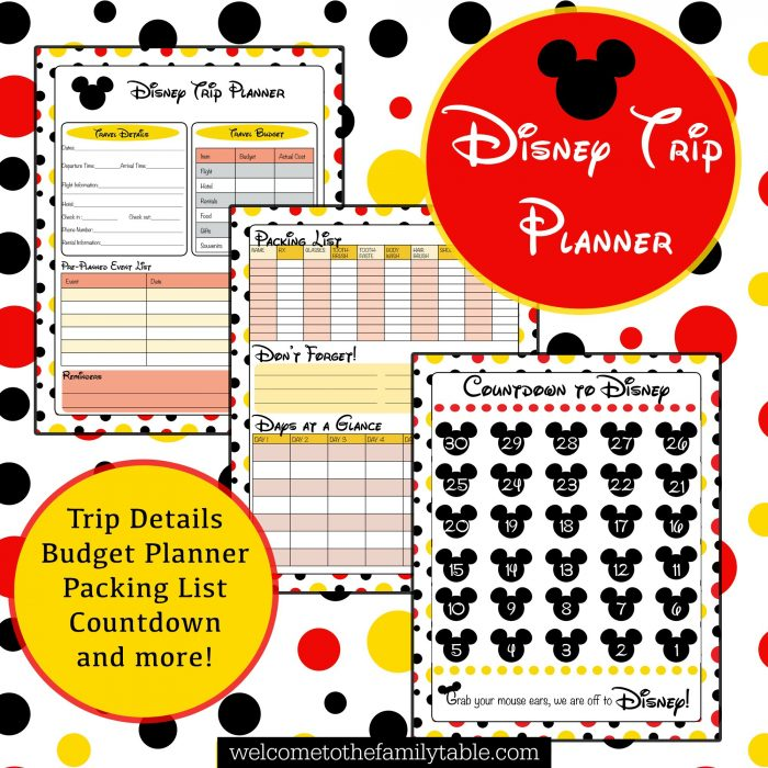 Printable Disney Vacation Planner