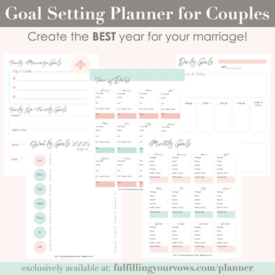 Goal Setting Planner for Couples (PDF)