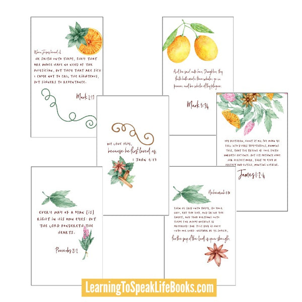 Matters of the Heart Printable Scripture Cards (Digital PDF)