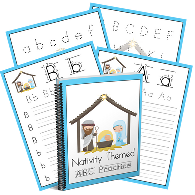 Nativity Preschool Handwriting Practice Pack