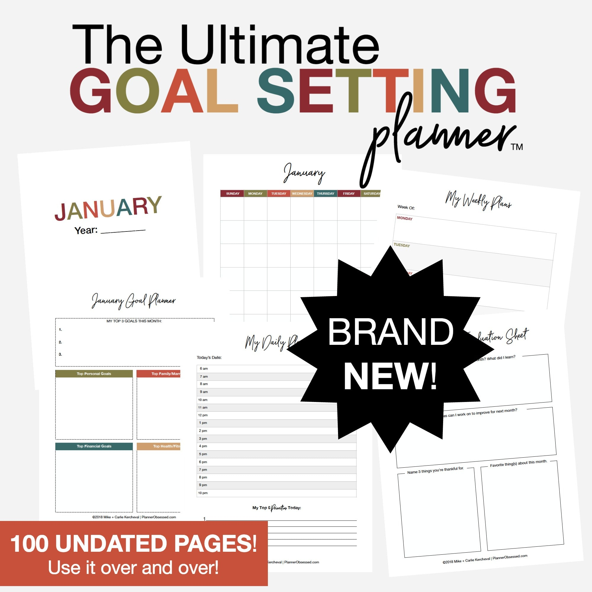 "picture regarding Goal Printable identify The Best Reason Natural environment Plannerâ""¢ Printable PDF"
