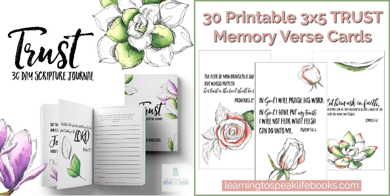 Trust 30-Day Scripture Journal + Memory Verse Card Bundle