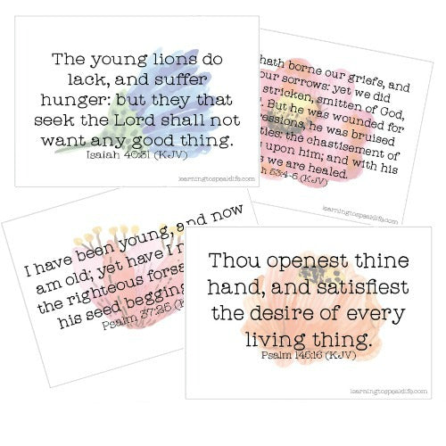Matters of the Heart Printable Scripture Cards Set #2 (Digital PDF)