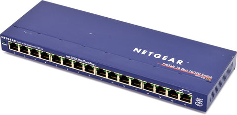 Netgear Prosafe FS116P 16-Port 10/100 Desktop Switch with 8-Port POE - EcoVoIP