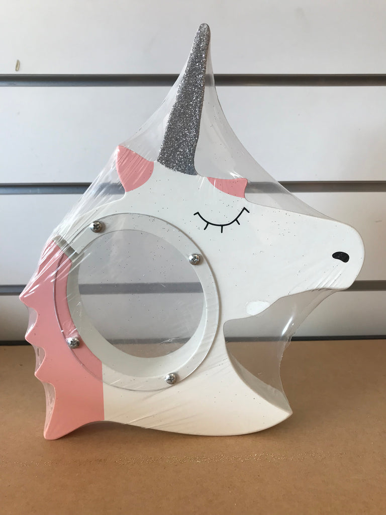 White Unicorn Sample Money Box