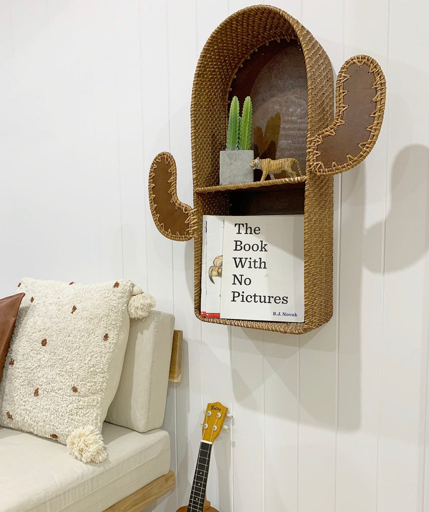 Cactus Rattan Shelf buy one get one free!