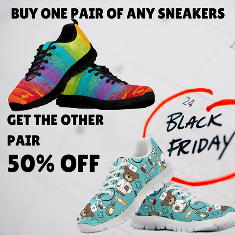 Buy one pair of any sneakers, get the other pair 50% off!