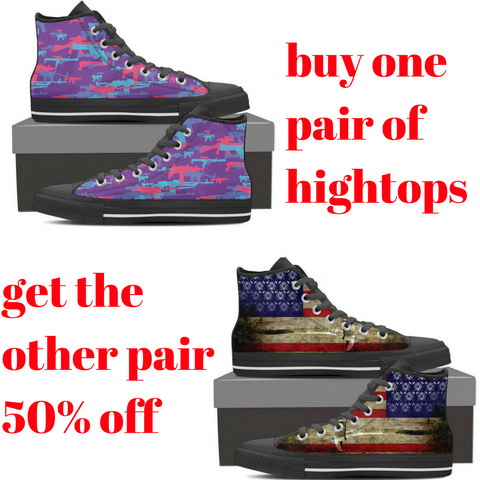 Buy one pair of hightops, get the other one 50% off