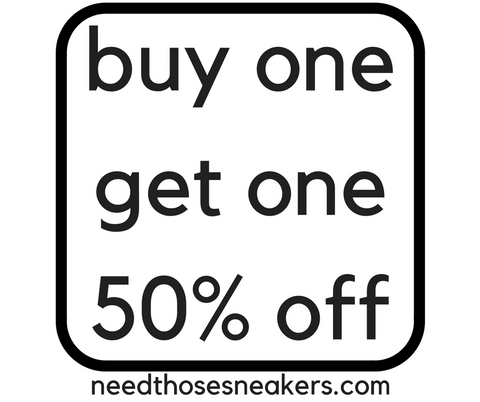 Buy one pair of socks, get the other one 50% OFF