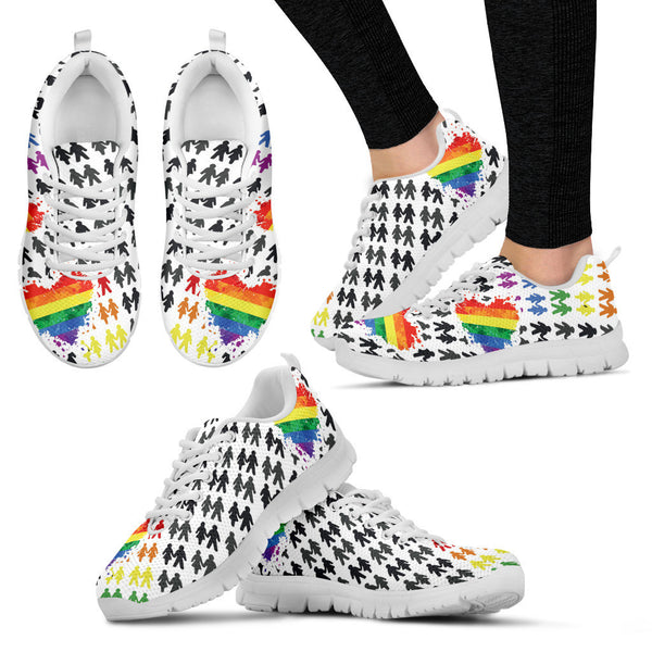 9dc347550d46 LGBT Womens Sneaker White - Need Those Sneakers