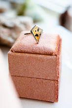 Cumulus | Montana Agate Shield Ring | Mixed Metal {Size 6}