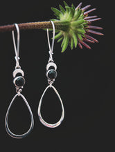 Retrograde | Rosecut Black Onyx | Crescent Earrings