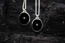 The Darkness Necklace | Black Onyx with a hint of glimmer | Tourmaline or Garnet
