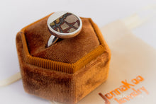 Coalesce | Red/Green Blanket Rhyolite Inlay Ring {Size 8}