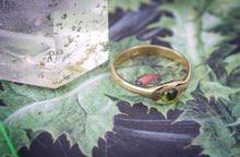 Crocus | Green Tourmaline Ring | Size 6.5-6.75 | 14K Gold
