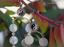 Parallel Chandelier Earrings | Mother of Pearl & Black Onyx Yin Yang