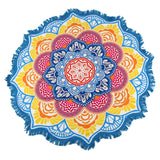 Rainbow Mandala Beach Blanket - Electric Origins
