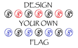 Custom 3x5 Foot Flag - Electric Origins