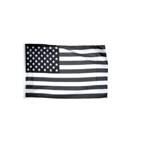 Black White USA Flag - Electric Origins