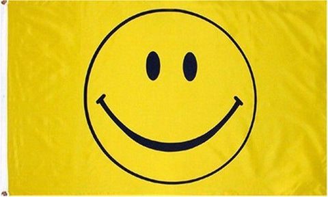 3x5 Foot Smiley Face Flag - Electric Origins