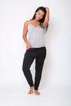 Slouch Pant - Black and Grey Marle