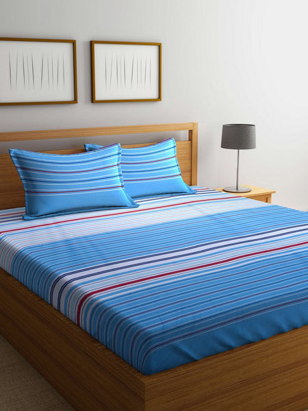 100% Cotton King size Double Bedsheet  With 2 pillow covers. (BED1581)