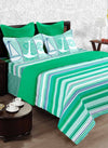 100% Cotton King Size Double Bedsheet  With 2 Pillow Covers. (BED1716)