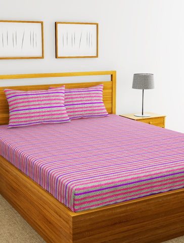Lorena 100% Cotton Double Bedsheet With 2 pillow covers. (BED1735)