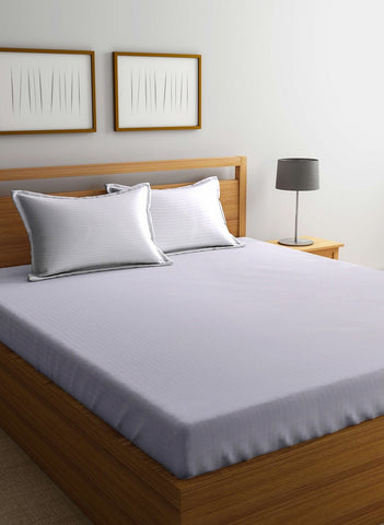 100% Mercerized Cotton King Size Double Bedsheet With pillow covers. (BED178A)