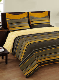 BIANCA 100% Mercerized Cotton Double Bedsheet With 2 pillow covers (BED1812)
