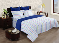 LORENA 100% cotton Single Bedsheet with one pillow cover (BED2134S)