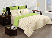 LORENA 100% cotton Single Bedsheet with one pillow cover (BED2135S)