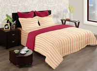 LORENA 100% cotton Single Bedsheet with one pillow cover (BED2136S)