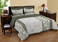 LORENA 100% cotton Single Bedsheet with one pillow cover (BED2137S)