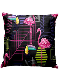 Set Of 3 Black Modern Bird Cushion Covers (C_CUS233A_CUS233A_CUS233A)
