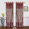 maroon designer door curtain (DC36)