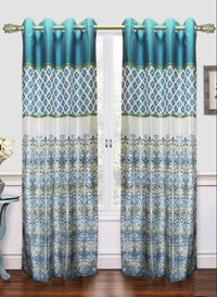white n blue traditional door curtain (DC19)