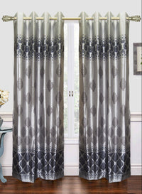 Grey designer door curtain (DC40)