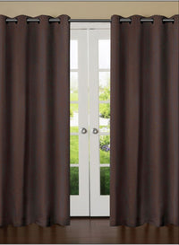 Dark Coffee Solid Premium Blackout Door Curtain (DC24)