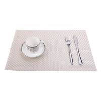 BIANCA PVC Mat with Extra durable & Wipe clean(Set of 6) (MAT404)