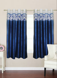 Blue Traditional Window Curtain (Wc105)