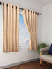 Dark Gold Solid Premium Blackout Window Curtain (WC106)