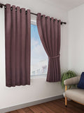 Coffee Solid Premium Blackout Window Curtain (WC107)